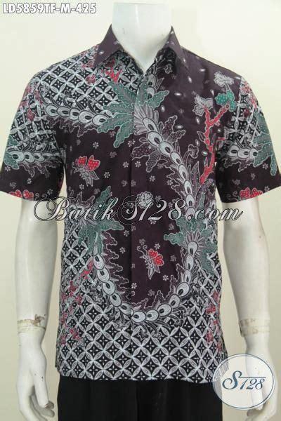 Hbt062 Hem Batik Tulis Premium Kemeja Baju Seragam Pria Murah Kekinian kemeja batik premium lengan pendek pake furing baju batik