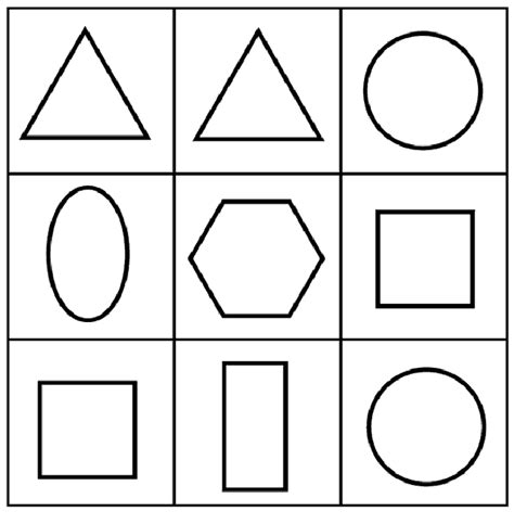 shapes coloring page for toddlers shape coloring pages