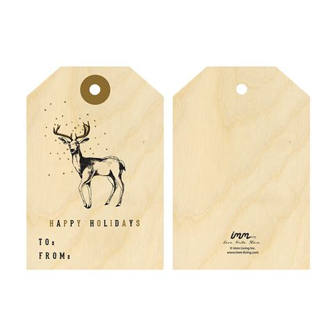 printable deer gift tags imm living stationery cards gift tag woodwork deer