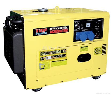 5kw silent diesel generator tp6500dgs top power china