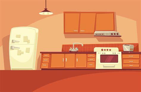 cartoon kitchen game scene cartoon background kitchen