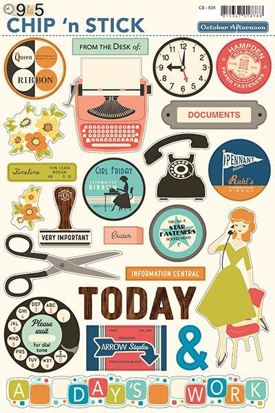 printable shapes for scrapbooking 9 to 5 scrapbooking collection by october afternoon