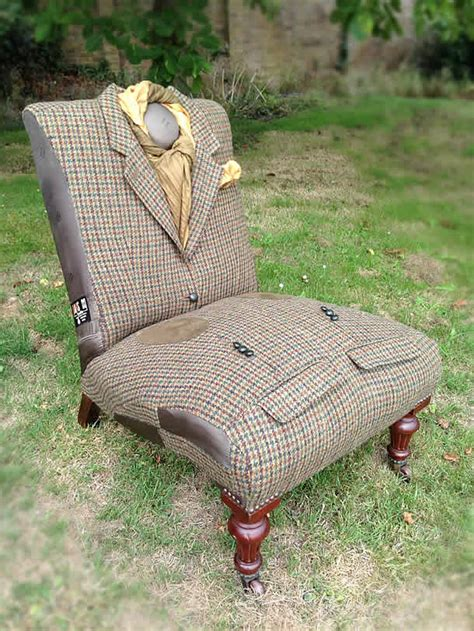 upcycled armchair upcycled vintage chairs in jackets by rescued retro vintage