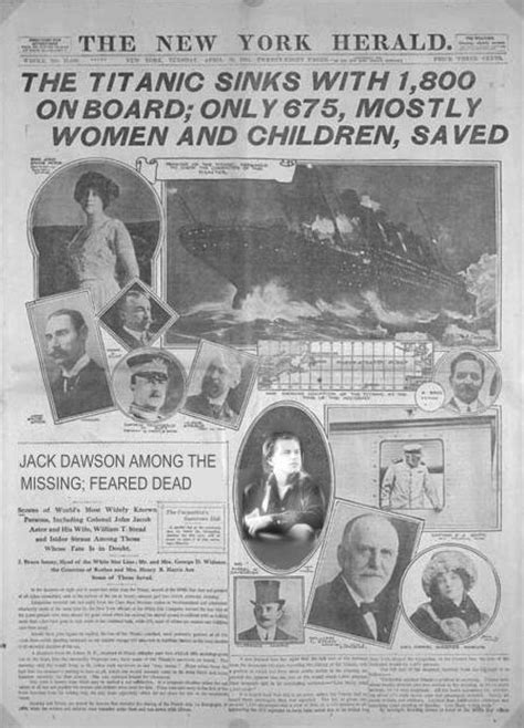 Titanic Sinks Newspaper by The Titanic Disaster And You