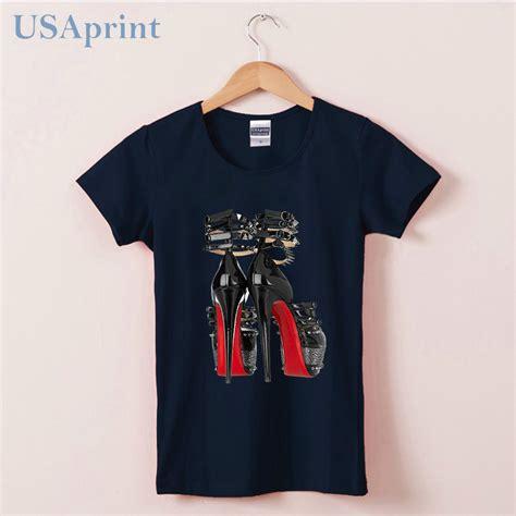 Shoes T Shirt novelty high heels shoes design t shirts clothing t