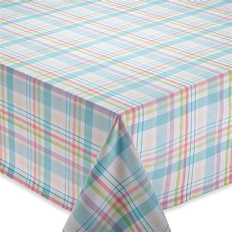 bed bath and beyond easter buy easter basket 52 inch square plaid tablecloth from bed