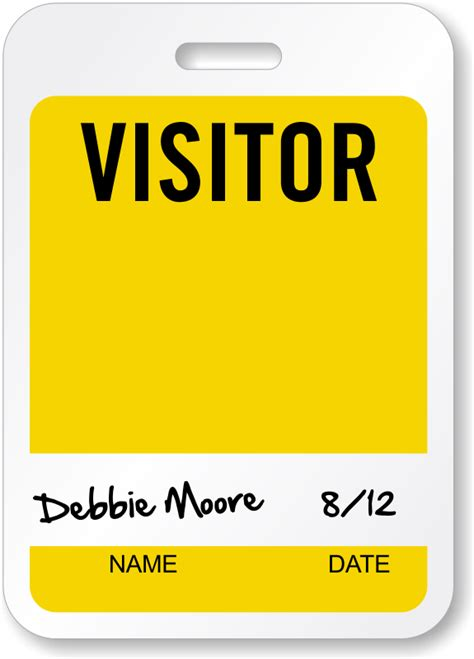 visitor pass template visitor badges reusable badges