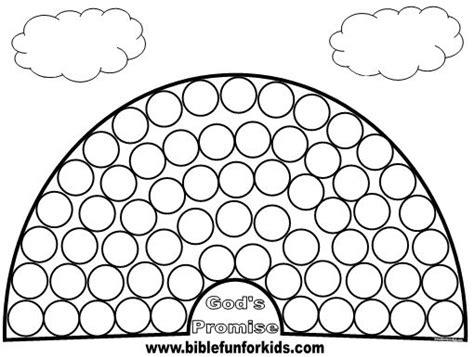 rainbow dot coloring page bible fun for kids noah preschool projects