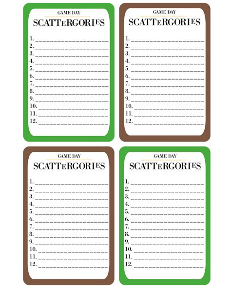 printable scattergories cards printable game day scattergories 183 pint sized treasures