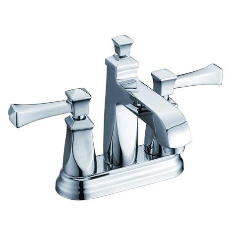 Decorative Bathroom Fixtures Yosemite Home Decor 4 In Minispread 2 Handle Deck Mount Bathroom Faucet In Polished Chrome With