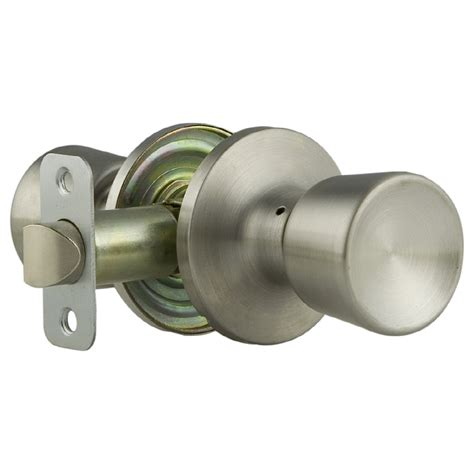 Lowes Door Knobs by Shop Gatehouse Gallo Satin Chrome Tulip Passage Door Knob At Lowes