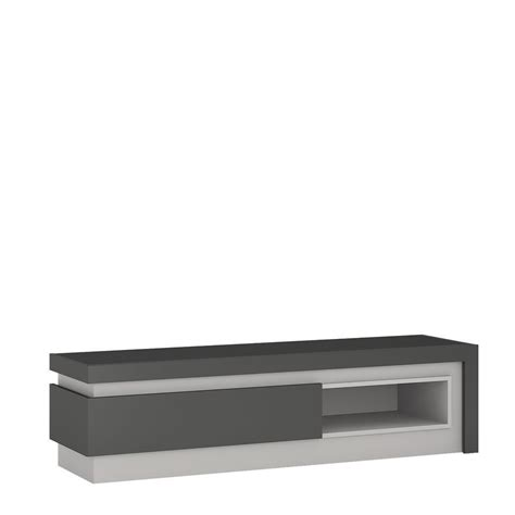 Grey Tv Cabinet by Grey High Gloss 1 Drawers Tv Cabinet Homegenies