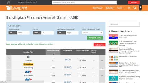 asb loan comparison e pinjaman personal loan perbandingan pinjaman asb permohonan secara online