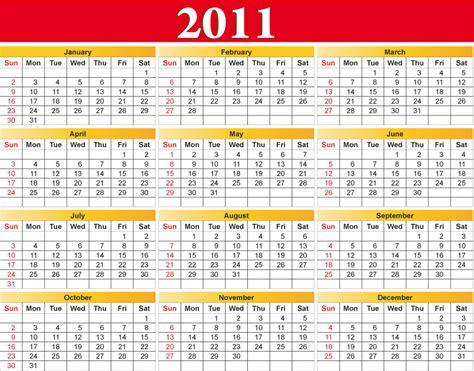 Calendar Of 2011 Calendario 2011 Calendar 2011 Vettoriali Gratis It