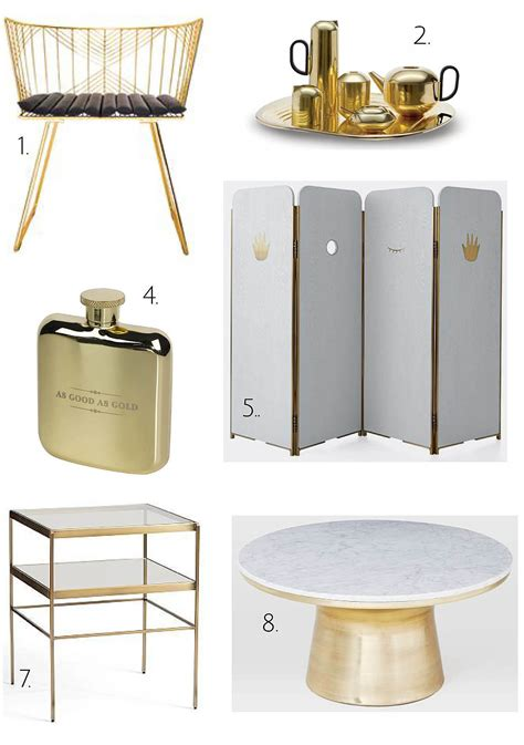 2013 Home Decor Trends Brass Home Decorating Ideas With Bling Turning The Gold And