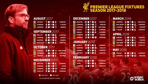 printable liverpool schedule a reminder of liverpool s fixtures for the 2017 18 premier