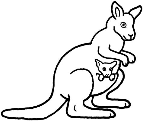 coloring page of a kangaroo and joey free coloring pages of joey kangaroo
