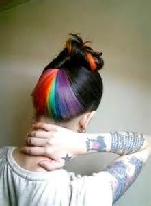 colored hair underneath rainbow hair color strayhair