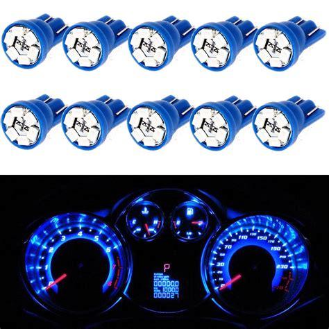 led instrument panel lights 10x blue led instrument panel lights t10 194 dashboard