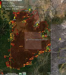 maps and status of the wallow wildfire today