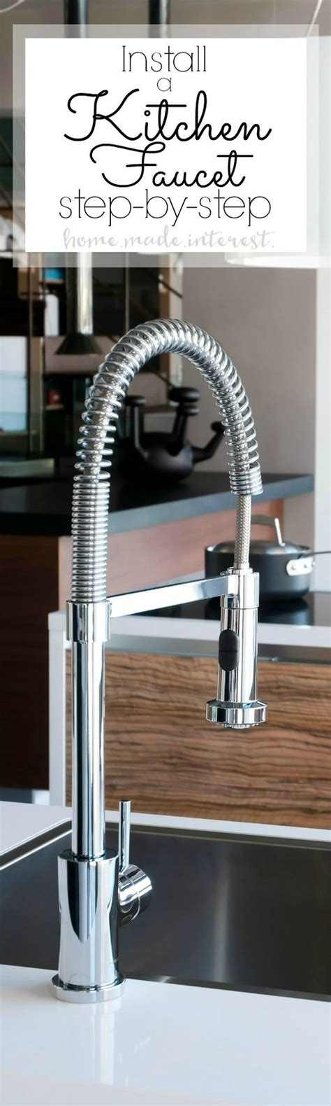 diy kitchen faucet how to install a kitchen faucet diy tutorial faucets