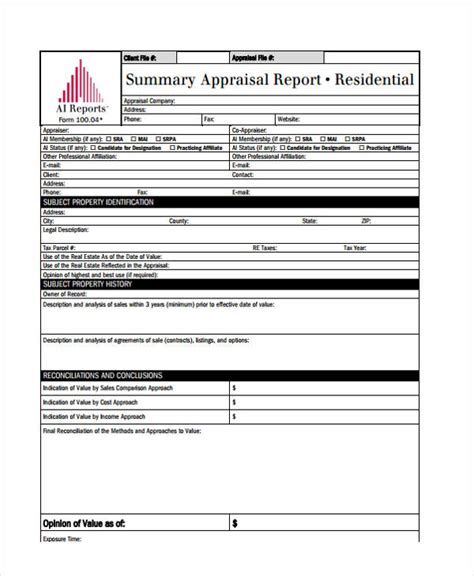 appraisal sle report sle real estate appraisal report 28 images sle