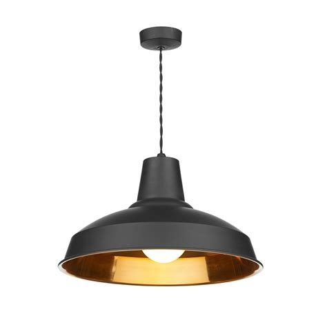 Black Pendant Lights David Hunt Rec0154 Reclamation 1 Light Black Ceiling Pendant
