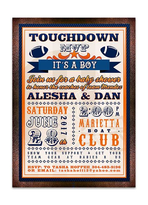 Football Themed Baby Shower Invitations by Football Themed Baby Shower Invitation Lot Paperie