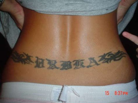 lower back tattoo name designs lower back tattoos writing www pixshark images