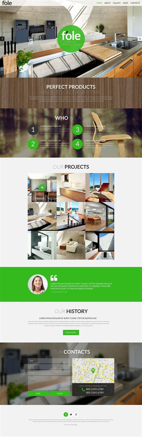 Furniture Responsive Website Template 51901 Furniture Website Templates Free