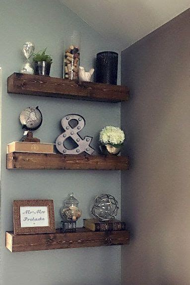 floating shelf rustic shelf ledge shelf open shelving
