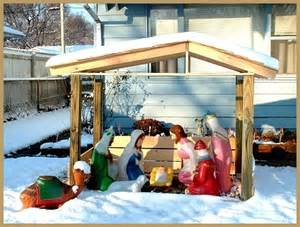 Build an outdoor nativity stable calo creations