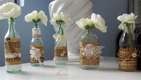 decorar botellas de vidrio vintage shabby vazice dise 241 o interiores pinterest