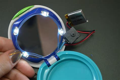 diy makeup compact solder circuit diy rechargeable led makeup compact adafruit learning system