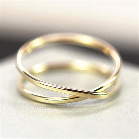 solid gold infinity ring 14k recycled gold forged