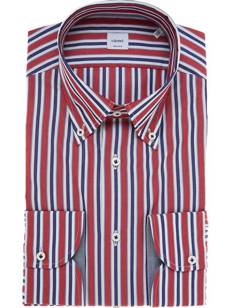 Button Collar Striped Shirt striped blue white c 224 rrel shirt with button collar