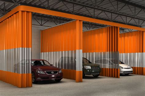 aluminium repair booth auto curtains auto body shop curtain walls fire rated
