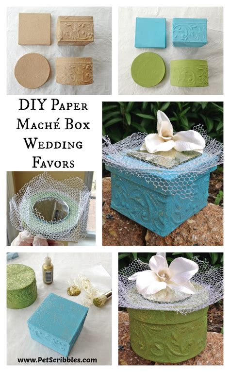 How To Make Paper Mache Boxes - paper mach 233 box wedding favors pet scribbles