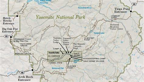 map of yosemite area popular 189 list national park map
