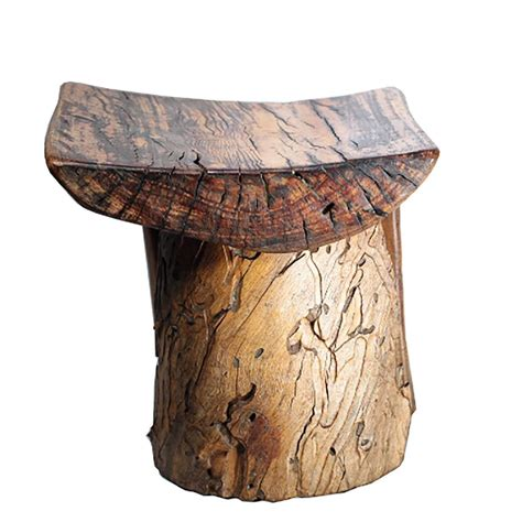 handmade rustic tree stump stool at 1stdibs