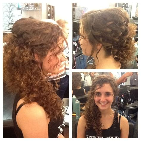 Bridal Hairstyles For Naturally Curly Hair by Curly Hair Swept To The Side Wedding Hair By Joni