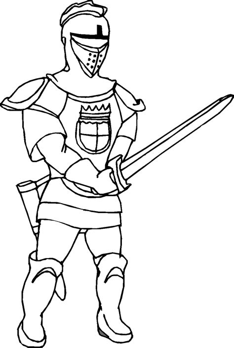 free with knights horses coloring pages