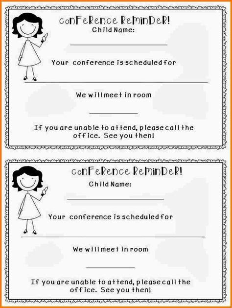 Parent Conference Sign Up Letter Parent Conference Letter Authorization Letter Pdf