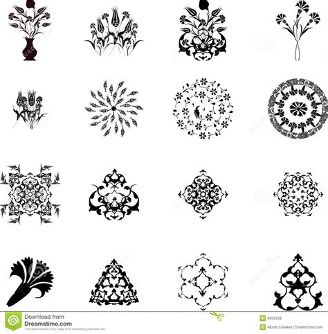 what elements defined ottoman art traditional ottoman turkish design elements royalty free