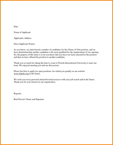 Rejection Letter To Applicants 16 rejection letter sle to applicant ledger paper