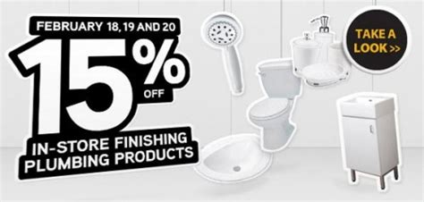 Rona Plumbing by Rona Canada Save 15 On Plumbing Products February 18