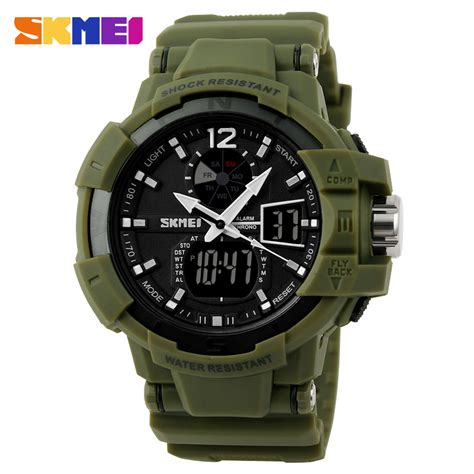 Skmei Jam Tangan Sport Digital Dg1025 Army Green T3010 3 skmei jam tangan digital analog pria ad1040 army green jakartanotebook