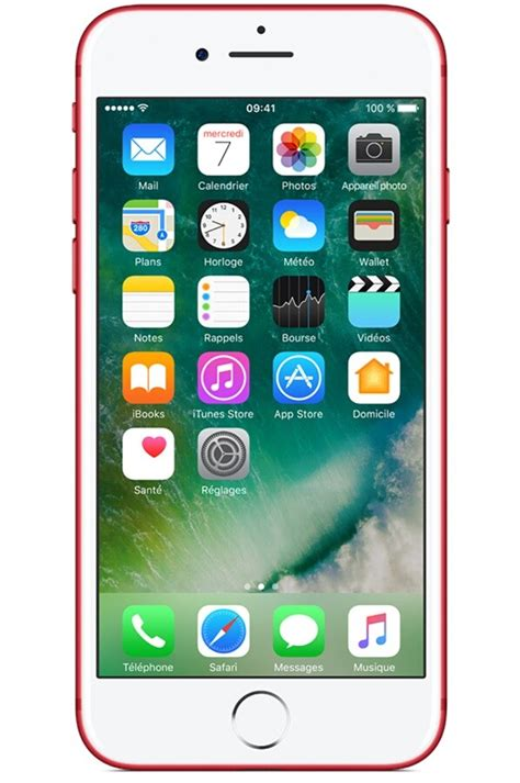 iphone apple iphone    product red special edition iphone    darty