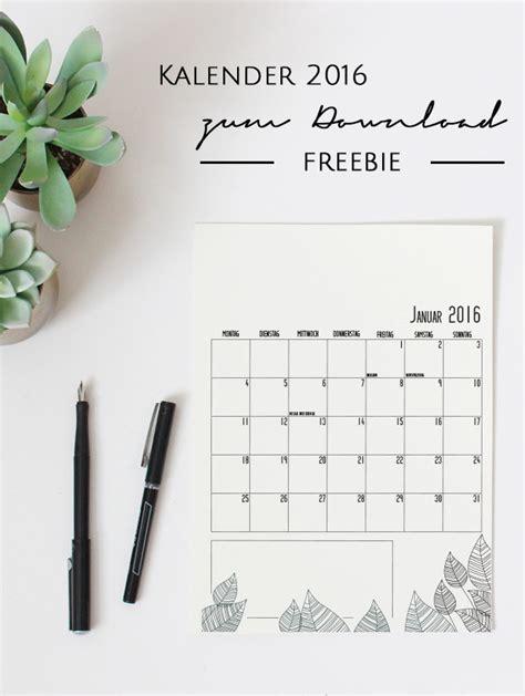design letters kalender 2016 kalender 2016 zum download freebie stilarten kunst