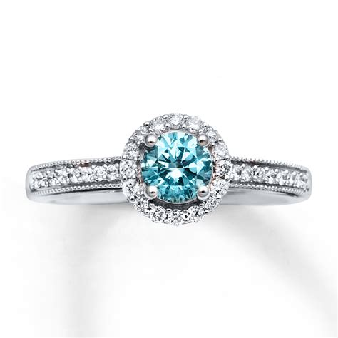 jared engagement ring 3 4 cttw light blue white